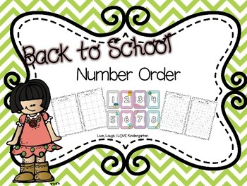 Back to School Number Order