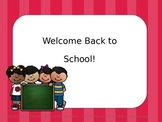 Back to School Editable Power Point (Pink Stripe)