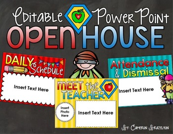 Back to School Open House Meet the Teacher Superhero Power