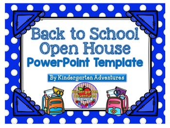 Back to School-Open House PowerPoint Template-Blue Polka D