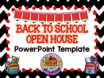 Back to School-Open House PowerPoint Template-Chevron Theme