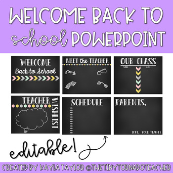 Back to School Open House Powerpoint -Editable-