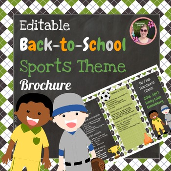 Back to School Open House Sports {Editable} Brochure