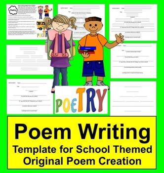 Back to School Activities:  Original Student Poem Graphic