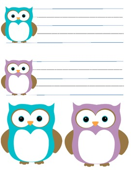 Back to School: Owl Desk and Cubby Tags