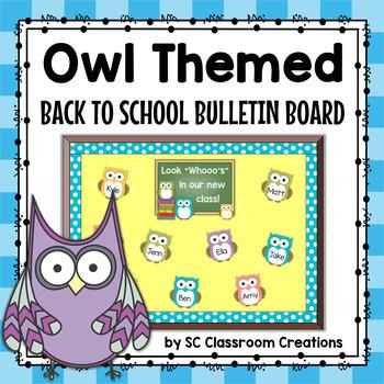 Back to School Owl Themed Bulletin Board