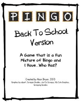 Back to School PINGO