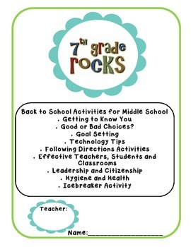 Back to School Pack - 7th Grade - No Prep - High Interest