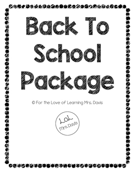 Back to School Package