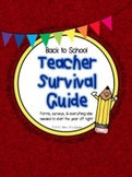 Back to School Packet - Teacher Survivor Guide - First Day