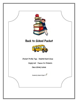 Back to School Packet for Teachers