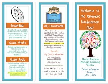 Back to School Parent Information Pamphlet
