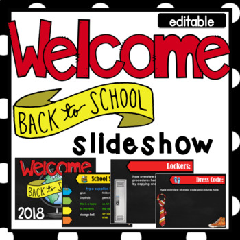 Back to School- Parent Presentation- Editable