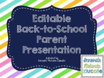 Back to School Parent Presentation {Neon Pastel Theme}