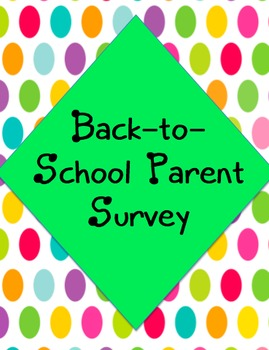Back-to-School Parent Survey