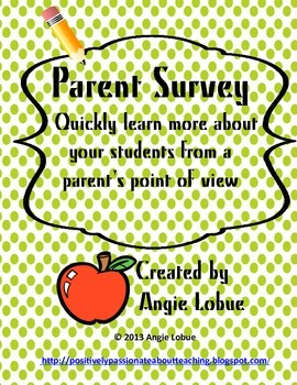 Back to School Parent Survey: Get to Know Your Students Quickly