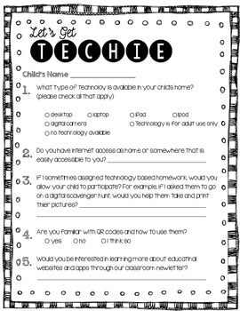 Back to School Parent Technology Survey