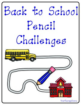 Back to School Pencil Control Challenges