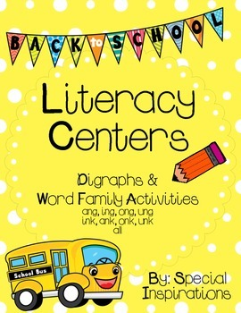 Back to School Phonics Literacy Centers