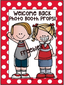 Back to School Photo Booth Props! A Freebie!!