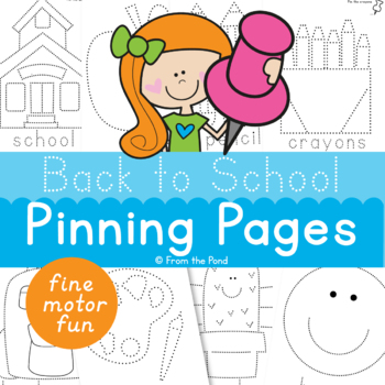 Back to School Pokey Pin Page Activities