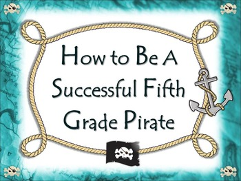Back to School Editable Pirates Code of Standards and Expe