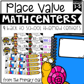 Back to School Place Value Centers {for Upper Elementary}