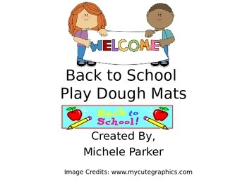 Back to School Play Dough/Play-Doh/Playdough Mats FREEBIE