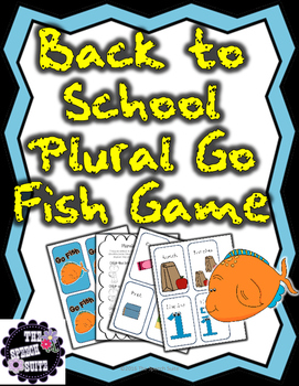 Back to School Plural Go Fish Game Including a Homework Sheet