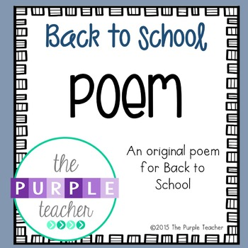 Back to School Poem