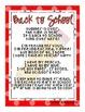 Back to School Poem - FREEBIE!