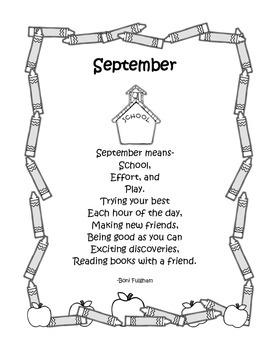 Back to School Poem: September Means