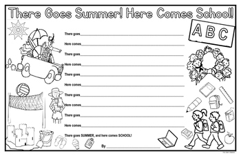 Back to School Poem - There Goes Summer! Here Comes School