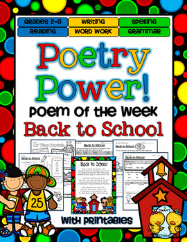 Back to School Poetry Power! Daily Literacy Practice