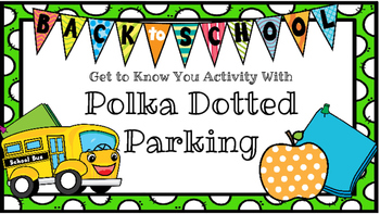Back to School Polka Dotted Parking Lots