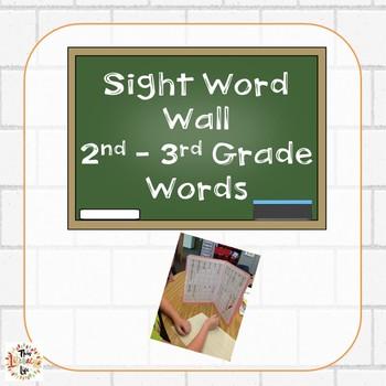 Back to School Portable File Folder Word Walls 2nd-3rd Dol