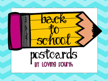 Back to School Postcards K-5