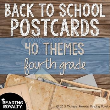 Back to School Postcards: 4th Grade