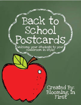 Back to School Postcards- School Supply Themed