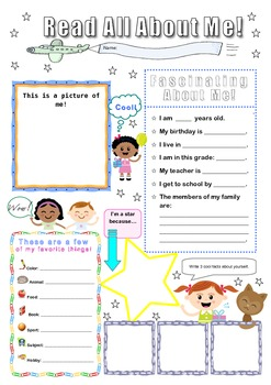 Back to School Poster: All About Me!