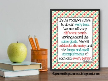 diversity poster classroom printable kids quote