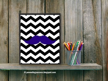 Chevron Classroom Decor Mustache Theme ~ Teacher Decoratio