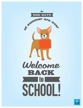 Back to School Posters (Cat and Dog)