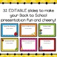 Back to School Night Powerpoint Presentation (Editable)