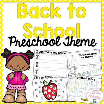 Back to School Preschool and Early Learners Packet
