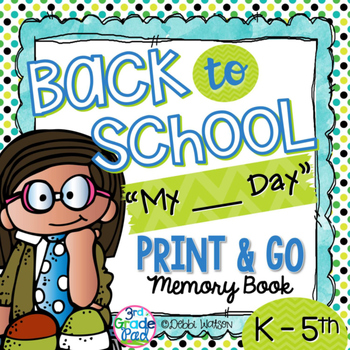 """Back to School Print & Go Booklet Customized for  """"My ___"""