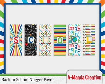 Back to School Printable Nugget Favor