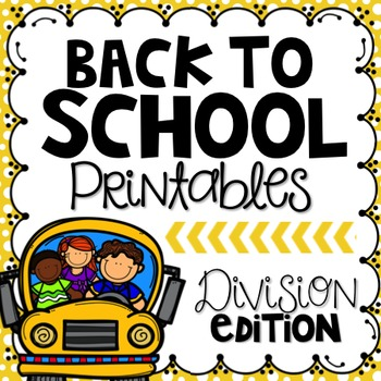Back to School Printables {Division Edition}