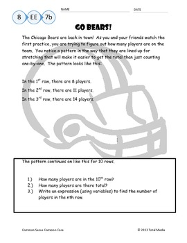 Back-to-School Problem Solving - Chicago Bears Style