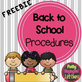 Back to School Procedure List- FREEBIE